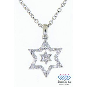 Cluster Diamond Star Beautiful Pendant